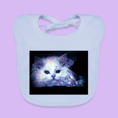 Gatto bianco glitter - Bavaglino ecologico per neonato