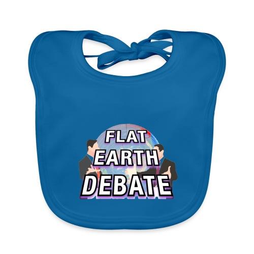 Flat Earth Debate Solid - Baby Organic Bib