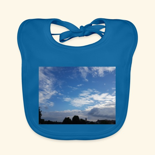 himmlisches Wolkenbild - Baby Bio-Lätzchen