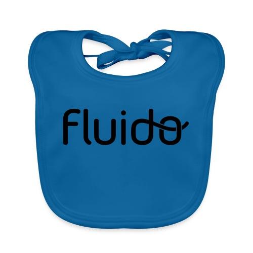 fluidologo_musta - Vauvan ruokalappu