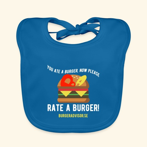 You ate a burger edition - Baby Organic Bib