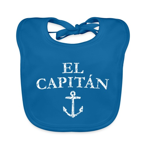 El Capitan Anker (Vintage Weiß) Kapitän Käpt'n - Baby Bio-Lätzchen