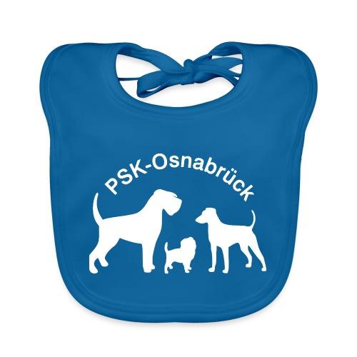 PSK-Logo Weiß - Baby Bio-Lätzchen