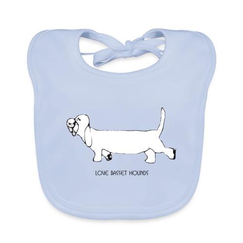 Love basset hounds - Baby økologisk hagesmæk