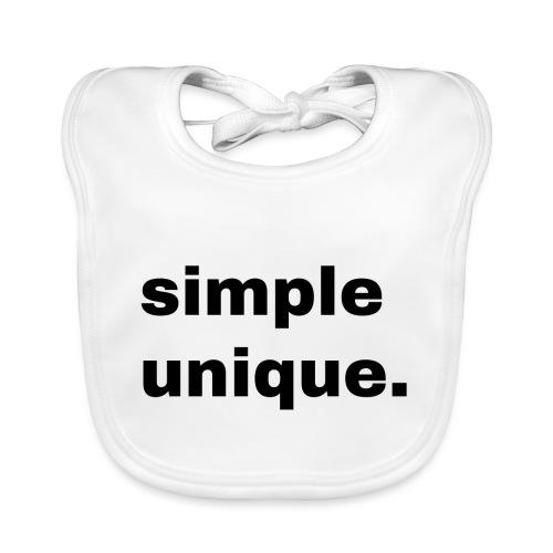 simple unique. Geschenk Idee Simple - Baby Bio-Lätzchen