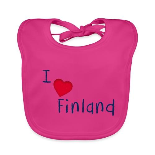 I Love Finland - Vauvan luomuruokalappu