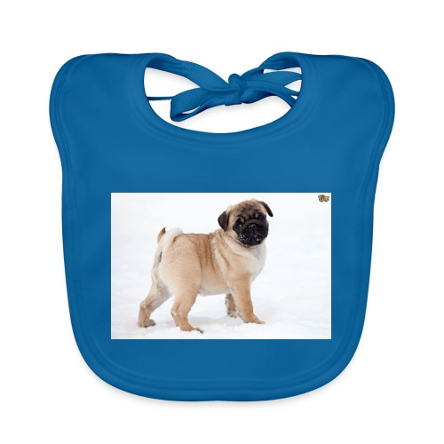 walker family pug merch - Baby Organic Bib