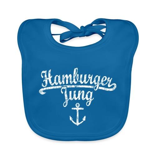 Hamburger Jung Klassik (Vintage Weiss) Hamburg - Baby Bio-Lätzchen