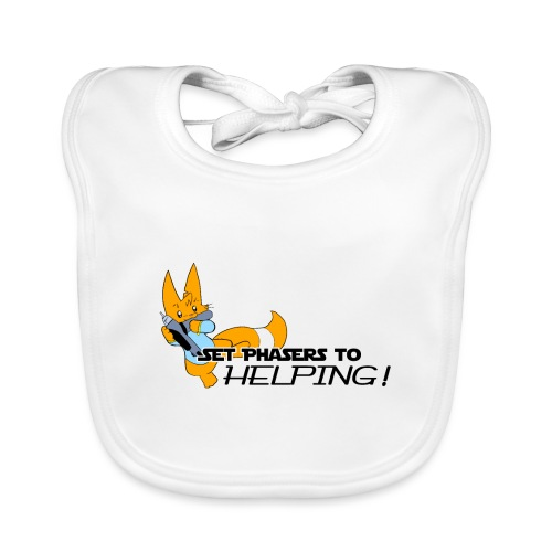 Set Phasers to Helping - Organic Baby Bibs
