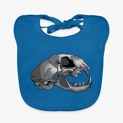 cat skull - Baby Organic Bib