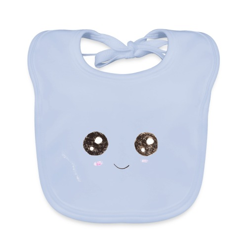 Kids for Kids: Smiling Face - Baby Bio-Lätzchen