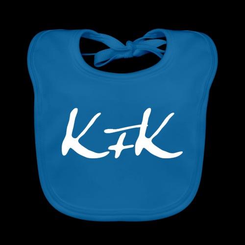 KFK logo blanco - Babero de algodón orgánico para bebés