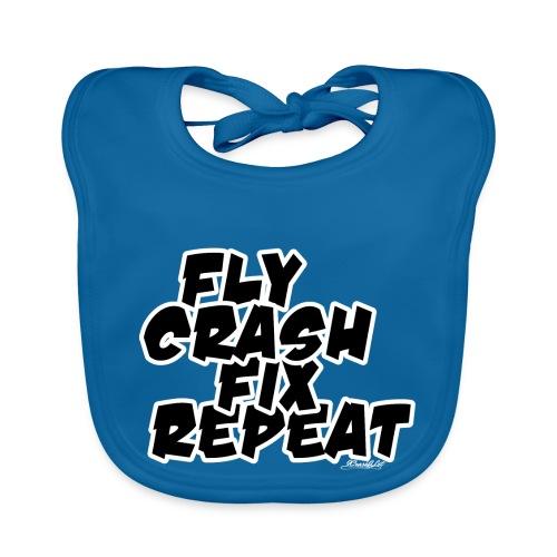 FlyCrashFixRepeat signed - Baby Organic Bib
