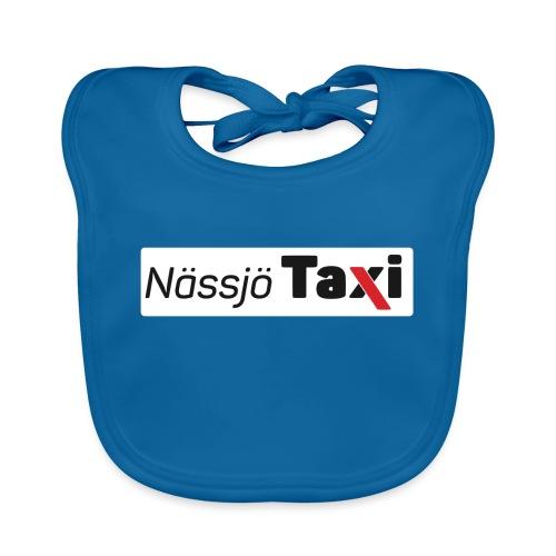 Nässjö taxi tryck - Ekologisk babyhaklapp