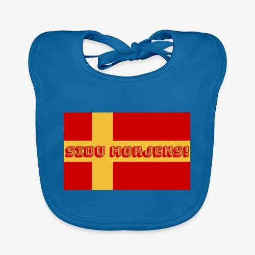 Sidu morjens! flagga - Ekologisk babyhaklapp