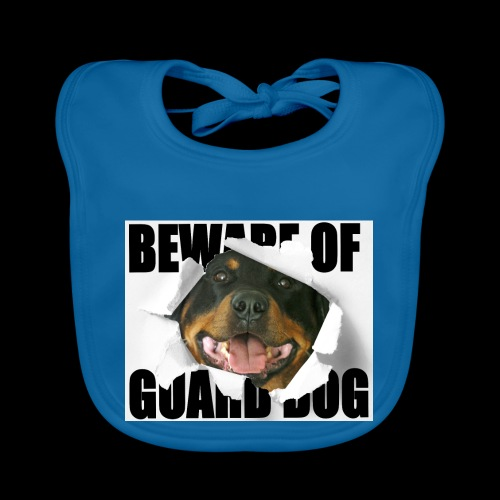 beware of guard dog - Baby Organic Bib