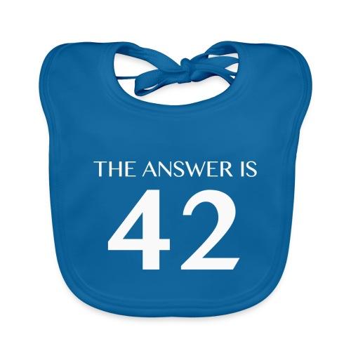 The Answer is 42 White - Baby Organic Bib