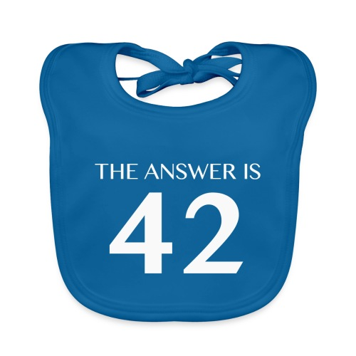 The Answer is 42 White - Organic Baby Bibs