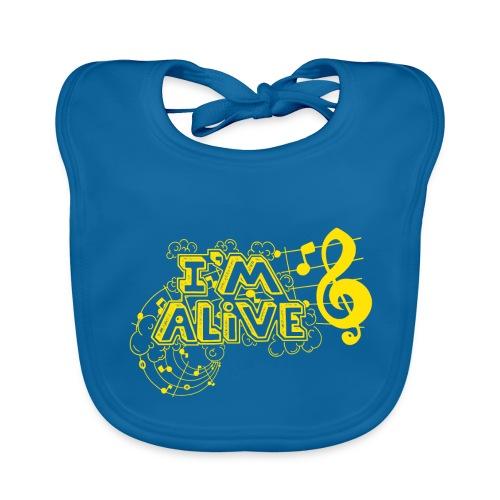 i m alive geel png - Bio-slabbetje voor baby's