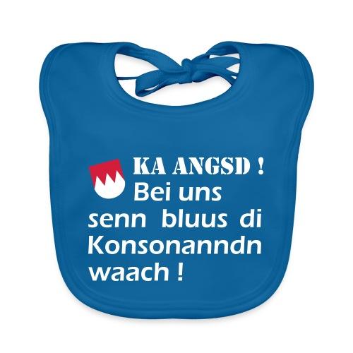ka-angsd_rot_weiss_klein - Baby Bio-Lätzchen