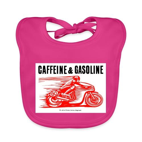 Caffeine & Gasoline black text - Organic Baby Bibs