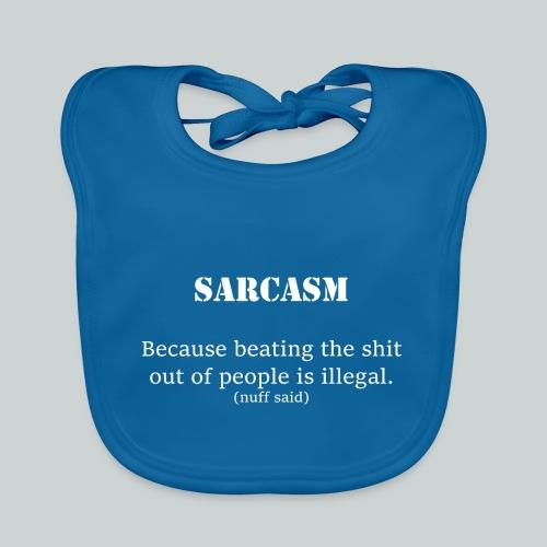 Sarcasm- white - Ekologisk babyhaklapp