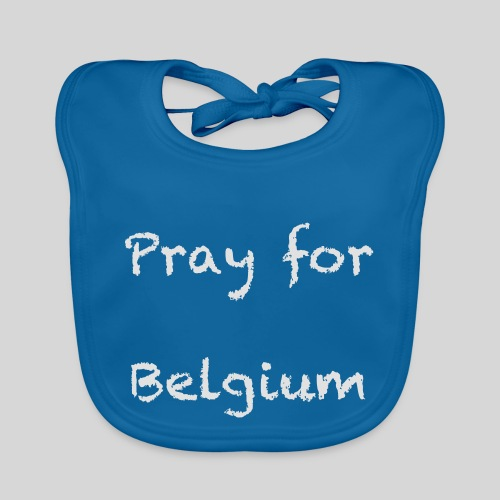 Pray for Belgium - Bavoir bio Bébé