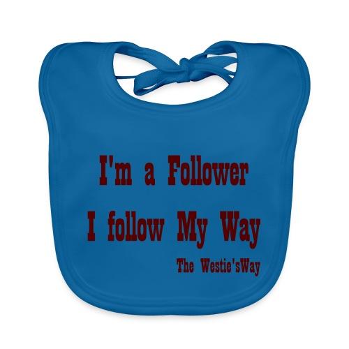 I follow My Way Brown - Ekologiczny śliniaczek