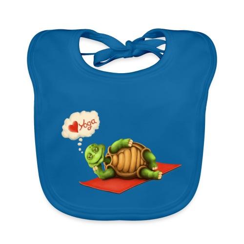 Love-Yoga Turtle - Baby Bio-Lätzchen