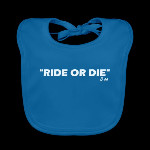 Ride or die (blanc) - Bavoir bio Bébé