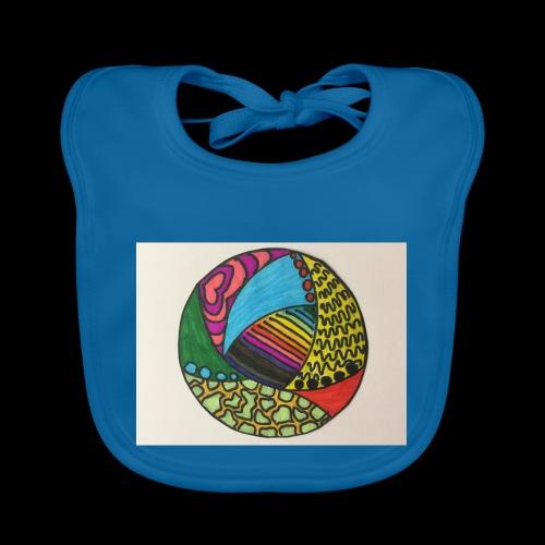 circle corlor - Baby økologisk hagesmæk