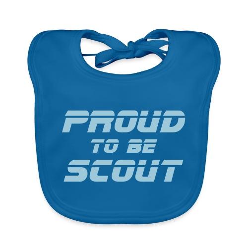 Proud to be scout Typo - Designfarbe frei wählbar - Baby Bio-Lätzchen