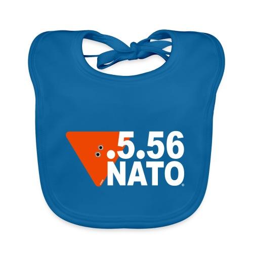 .5.56 NATO BLANC - Bavoir bio Bébé