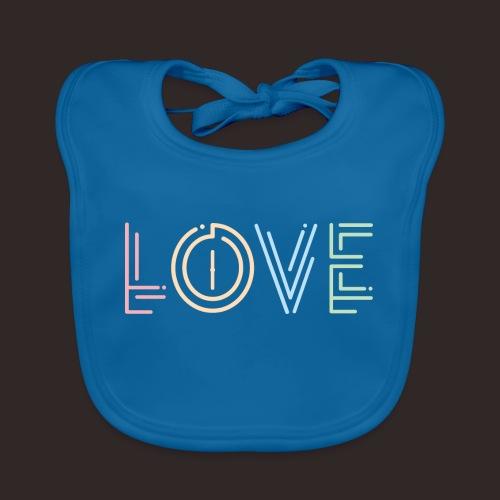 Liebe | Schriftzug kreativ bunt - Baby Bio-Lätzchen
