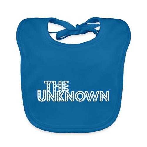 The Unknown Logo white - Hagesmække af økologisk bomuld