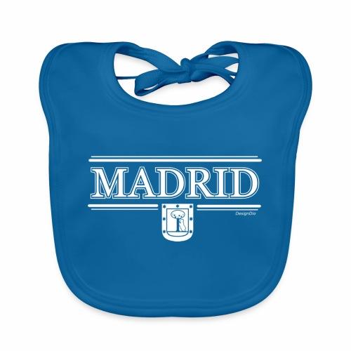 Camiseta Madrid Negra - Babero de algodón orgánico para bebés