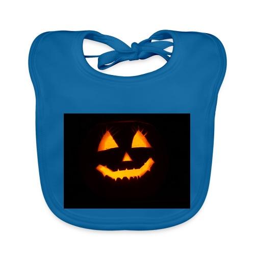 Halloween Kürbis Gesicht - Baby Bio-Lätzchen