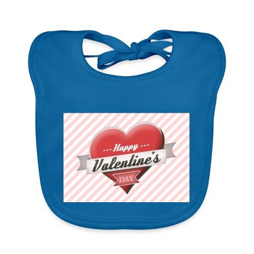 happy valentines day - Baby Organic Bib