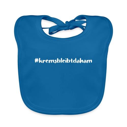 hashtag kremsbleibtdaham white - Baby Bio-Lätzchen