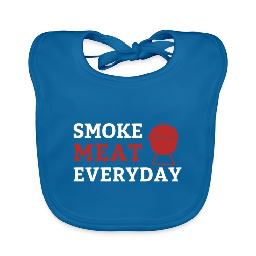 smoke meat everyday shirt - Baby Bio-Lätzchen