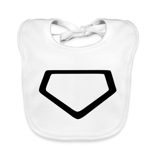 Baseball Homeplate Outline - Baby Organic Bib