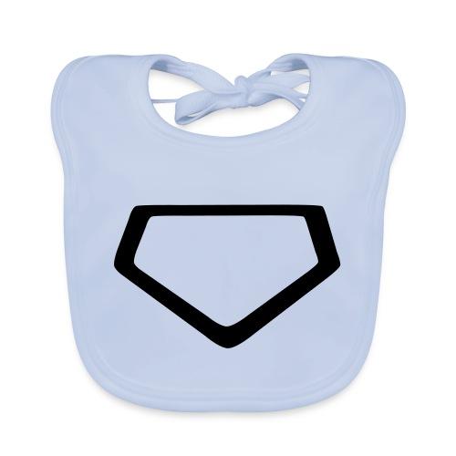 Baseball Homeplate Outline - Baby Organic Bib