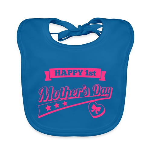 Happy 1st Mother's Day - Organic Baby Bibs