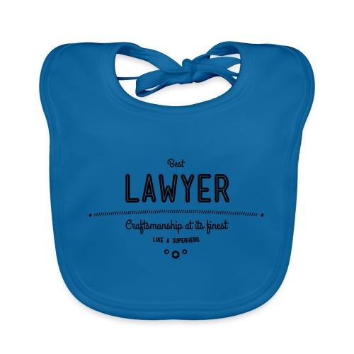 Bester Anwalt - wie ein Superheld - Baby Bio-Lätzchen