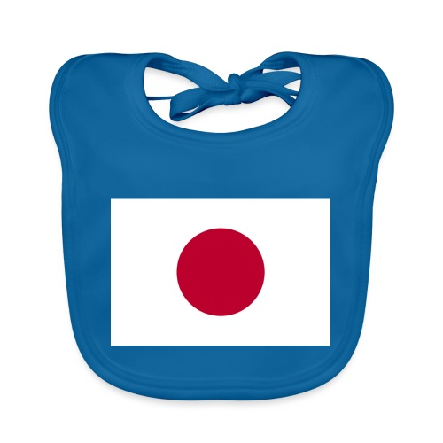 Small Japanese flag - Organic Baby Bibs