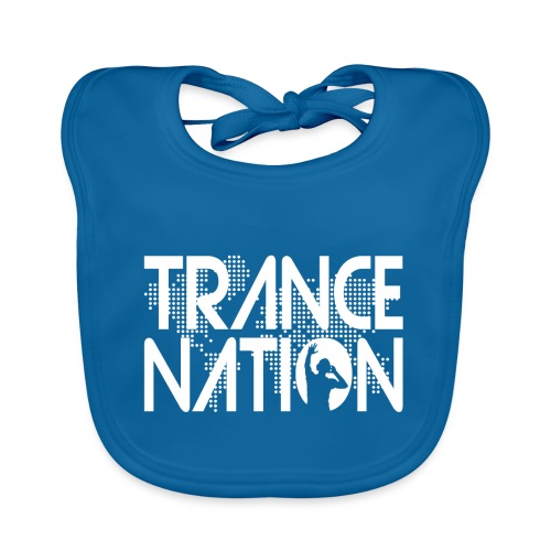 Trance Nation (White) - Ekologisk babyhaklapp