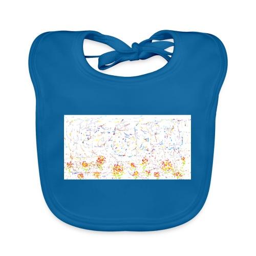 flores - Babero de algodón orgánico para bebés