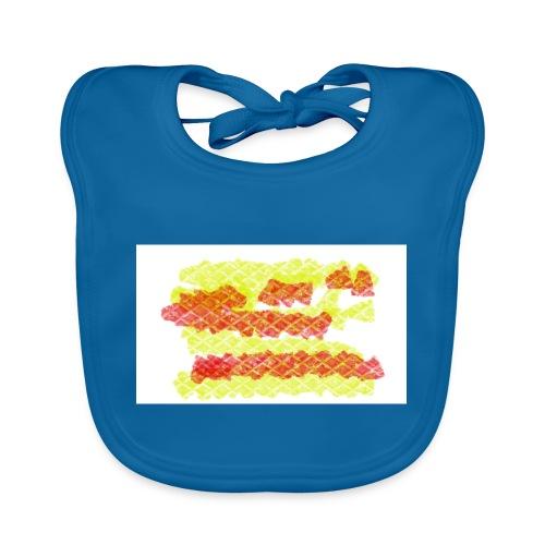 cuadros - Babero de algodón orgánico para bebés