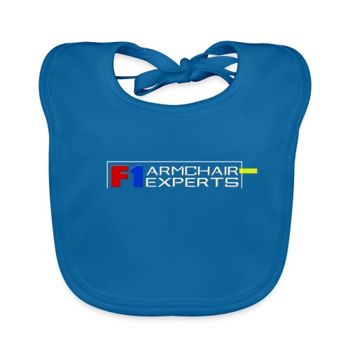 F1 Armchair Expert Official Logo WHT - Baby Organic Bib