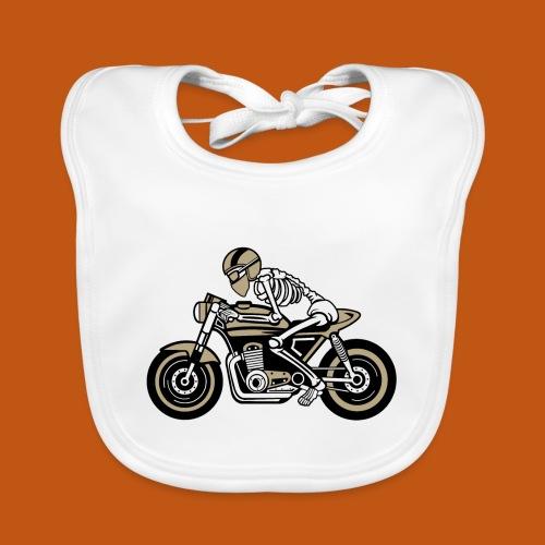 Cafe Racer Motorrad 05_dreifarbig - Baby Bio-Lätzchen